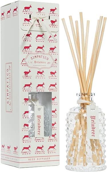 Simpatico Reindeer 29 Hobnail Reed Diffuser Set