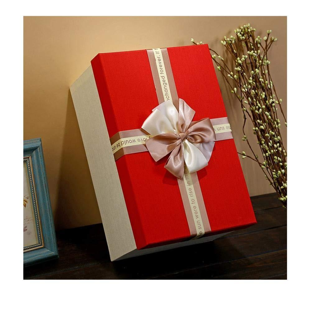 Caja de regalo rectangular, caja de regalo de gran tamaño, caja de regalo simple, caja de regalo de gran capacidad@29.5 * 18.7 * 13.3 cm_A1: Amazon.es: Oficina y papelería