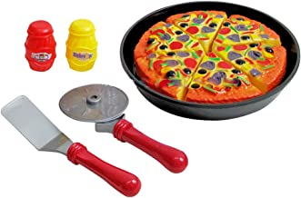 Liberty Imports Pizza Pie Party Slice and Serve Kitchen Pretend Play Food Cutting Toy Set for Kids
