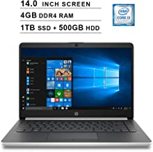 2019 Premium HP Pavilion 14 Inch Laptop (Intel Dual Core i3-8130U up to 3.4GHz, 4GB DDR4 RAM, 1TB SSD (Boot) + 500GB HDD, Intel UHD Graphics 620, Bluetooth, HDMI, Win10, Silver) (Renewed)