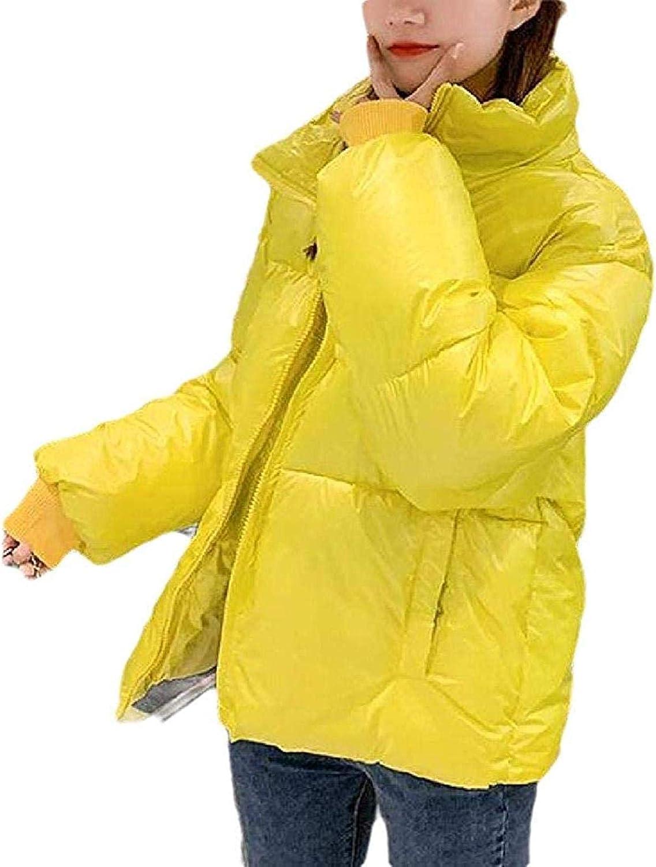 Women Quilted Winter Coat Long Sleeve Zip Down Jacket Parka Outerwear