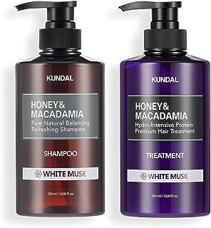 KUNDAL Honey & Macadamia Pure Natural Shampoo & Conditioner Set - White Musk