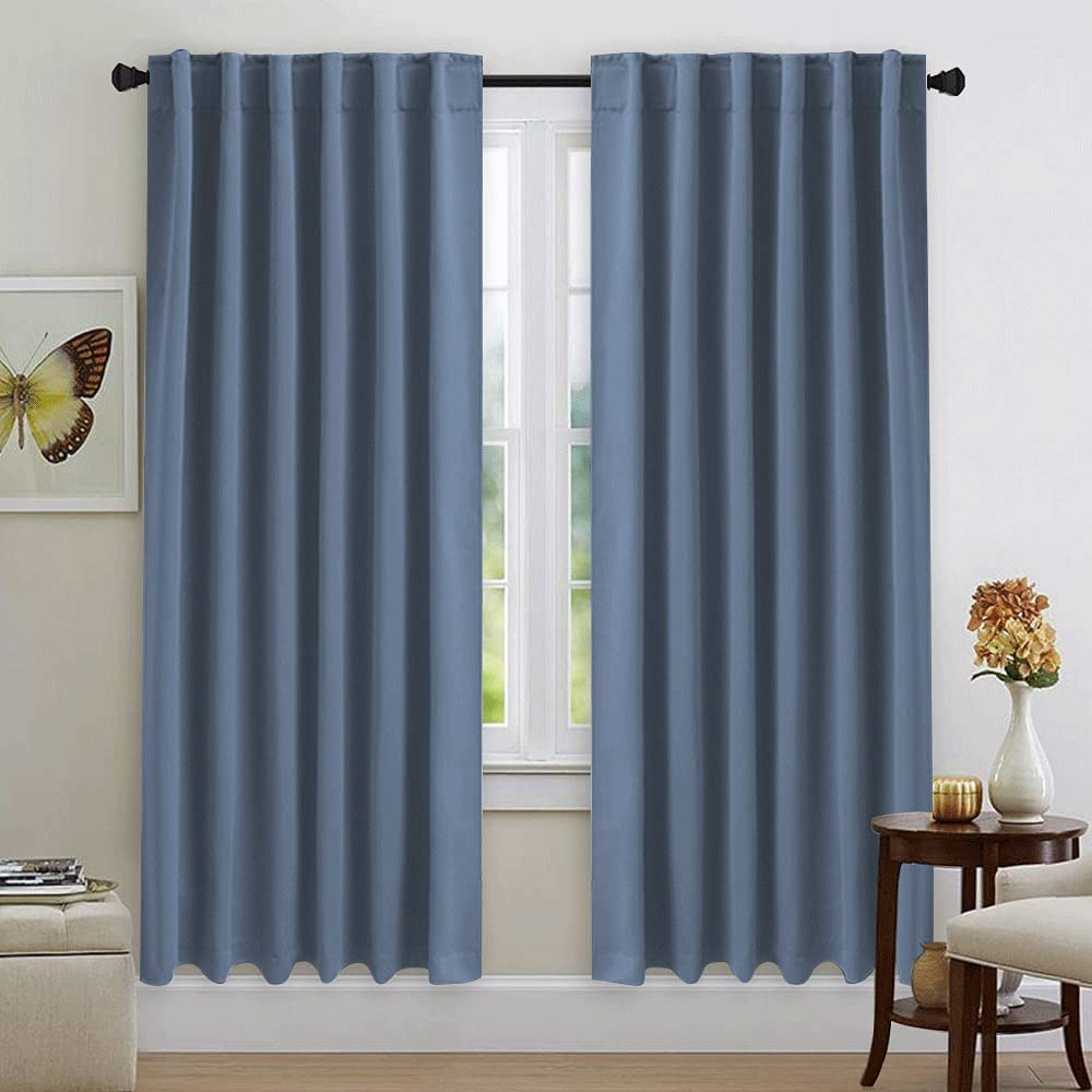 NICETOWN Window Treatment Blackout Curtains Low price Blue Color Stone lowest price -