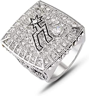TWCUY 2014 Spurs Duncan Basketball Championship Replica Ring for Fans Men's Gift Size 9-12 with A Wooden Box
