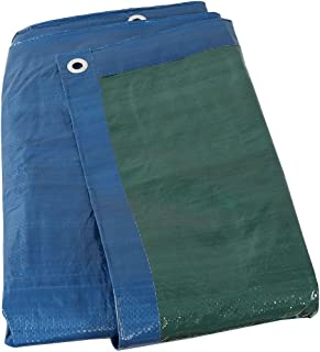 Sunnydaze 16x20 Waterproof Tarp, Heavy Duty Multi-Purpose, Outdoor Reversible, Blue/Green