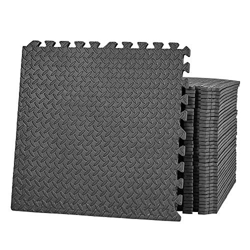 papababe Puzzle Exercise Mat with EVA Foam Interlocking Tiles for MMA Exercise, Gymnastics and Home...