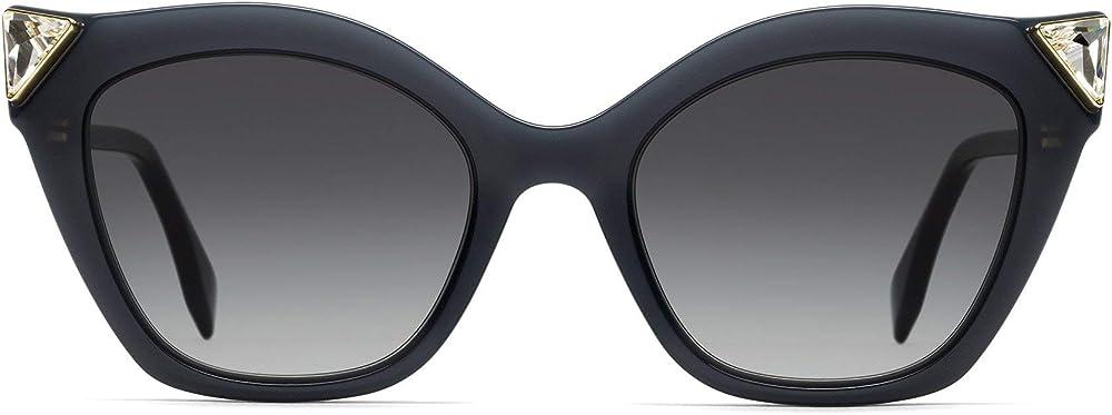 Fendi, occhiali da sole per donna, montatura in acetato  blu, lenti grigie 0357/G/S