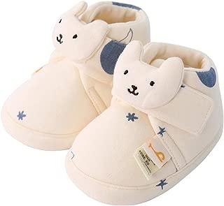 Baby Boy Girl Fleece Cozy Booties Warm Infant First Walker Shoes