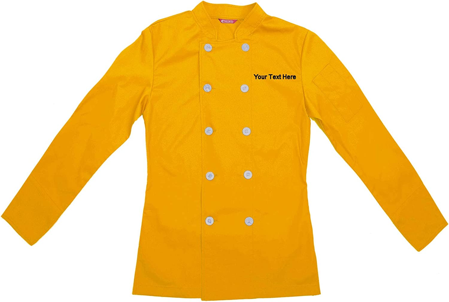 Seattle Mall Embroidered Women's Max 65% OFF Chef Coat Shirt Personalized Cook