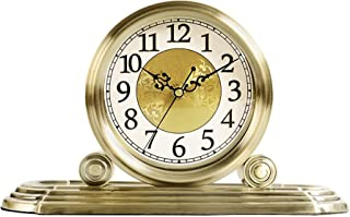Skorsten klocka bord äkta metall cook clock antik skrivbord klocka hem rum kök dekorativa retro prydnadsnamn nordisk kreat...