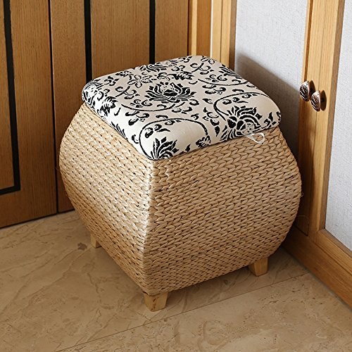 Hocker ZHANGRONG- Pu Gras Rattan Ablage für Schuhputzer Abgedeckt mit Aufbewahrungsbox Hall wechselnde Schuhe Sofa (Wahlweise freigestellte Größe) -Sofa (Farbe : B)