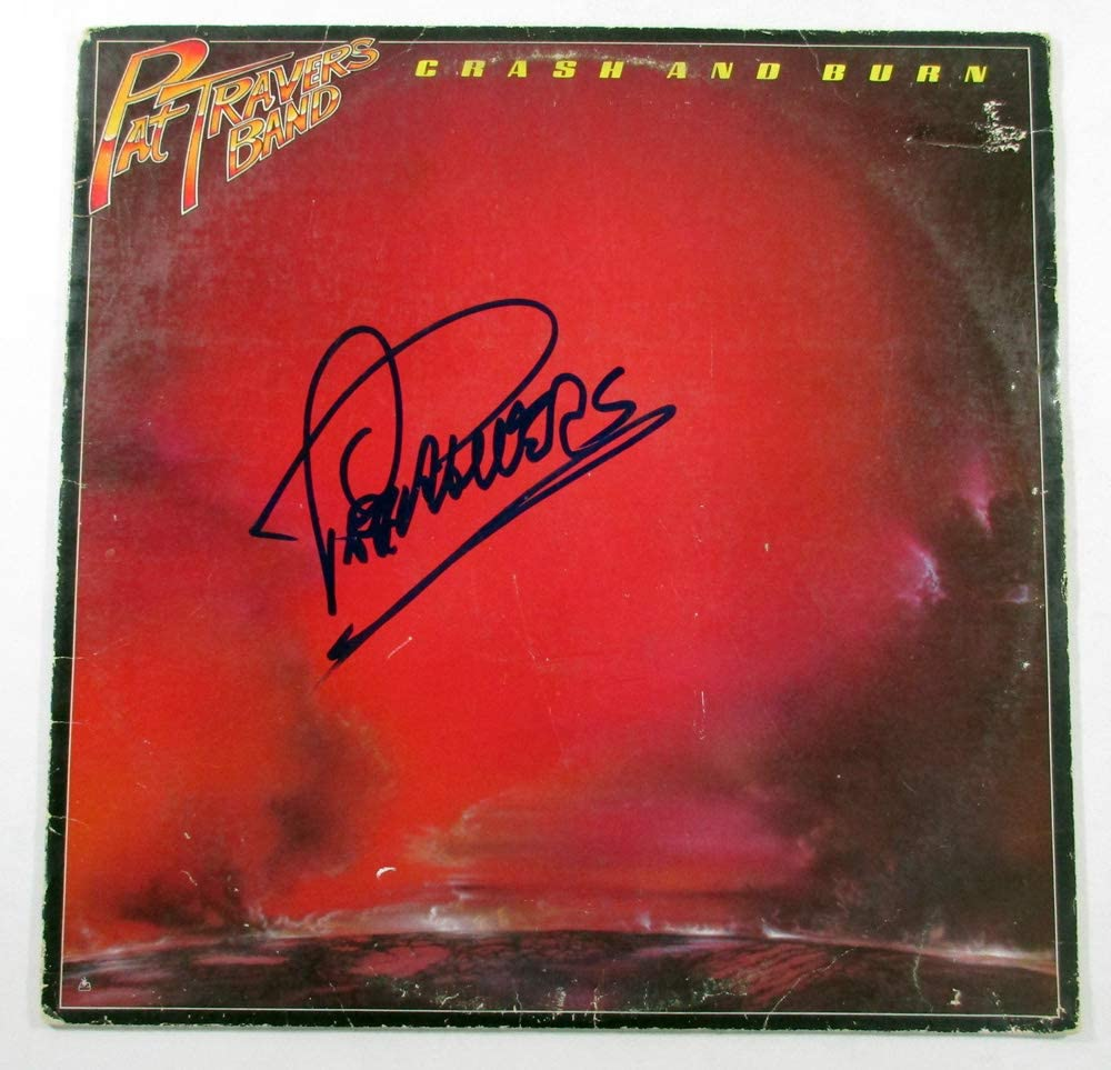 Outstanding Pat Travers Signed LP Record Album Crash Max 67% OFF AUTO w DF01850 Burn and