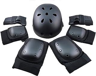 FUCNEN Scooter Beschermende uitrusting met knieelleboogbeschermers Polsbeschermers Helm voor Kinderen/Tieners/Volwassenen ...
