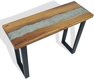 vidaXL Solid Teak Console Table Industrial End Side Living Room Furniture