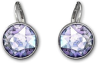 Tanzanite Moonlight Crystal BELLA Pierced Drop Earrings Rhodium 5030703