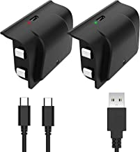 Best YCCSKY Xbox One Rechargeable Battery Pack, 2 Pack 1200mAh Xbox One Controller Battery Pack Play and Charge Kit for Xbox One S/X/Elite Controller with 3FT Micro USB Charging Cable with LED Indicator Review