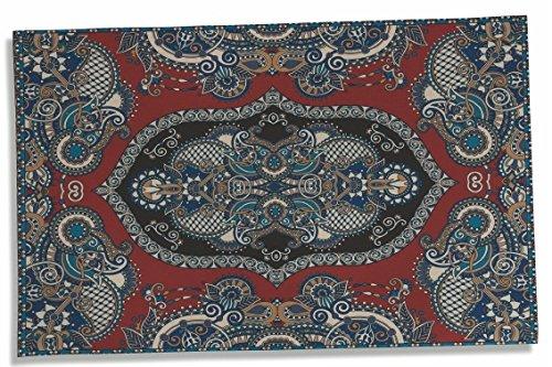 Villa d'Este Home Tivoli 2417871 Oosterse tapijt, polyester, meerkleurig, 95 x 60 x 0,3 cm