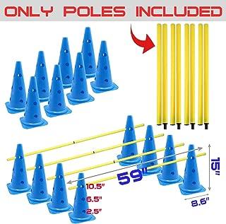 AKA Agility Training-Hurdle Cone Set | Cones & Poles Set-(Cones and Poles Sold Separately)