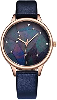 SK Ladies Watch Leather Band 9766 Blue