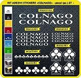 Pimastickerslab Colnago Art.0092 Aufkleber, Fahrrad, Farbe wählbar, 27 Stück, Bianco cod. 010