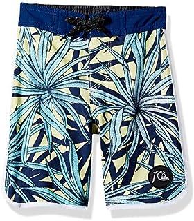 Quiksilver Little Highline PANDANA BOY 14 Boardshort Swim Trunk Yellow iris 3 [並行輸入品]