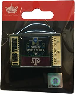 aminco Texas A&M Aggies 2017 NCAA Men's College World Series I Was There Lapel Pin