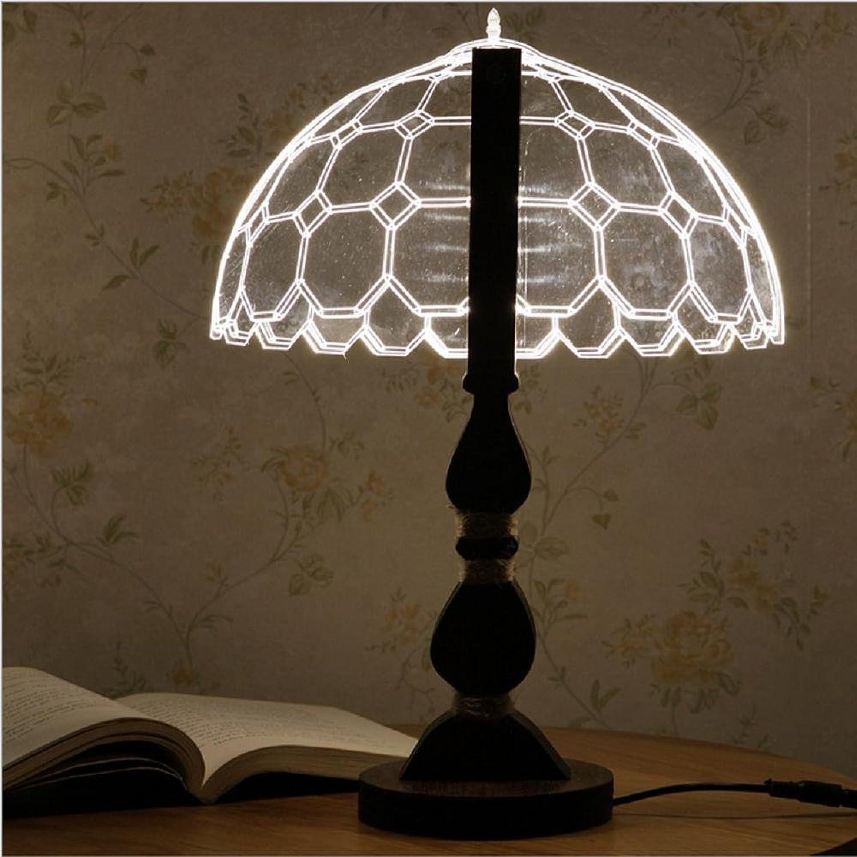 ZHIYUAN Mesa creativa 3D casa moderna lámpara Visual 3D acrílico lámpara noche luz