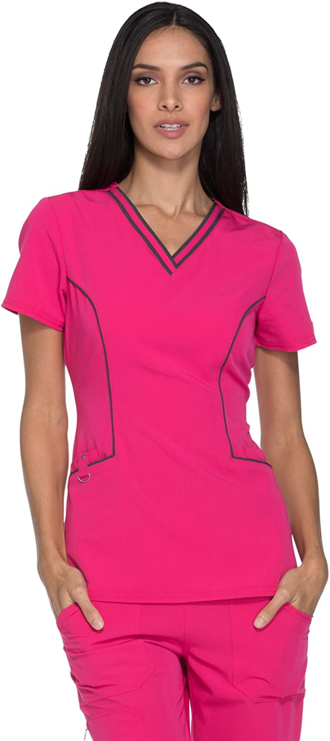 Dickies Xtreme Stretch DK715 Women's VNeck Solid Scrub Top