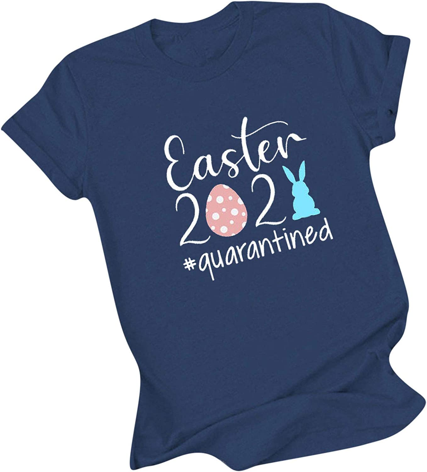 Women Easter T-Shirt Eggs and Short Bunny Printing S Challenge the lowest Max 63% OFF price Tops