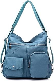 Tricherry Women Shoulder Bag Waterproof Zipper Nylon Large Capacity for Outdoor Travel Multifunctional One-Shoulder Backpack Wild Lady Messenger Bag Cloth Bag Large Capacity (34cm *33cm *11cm