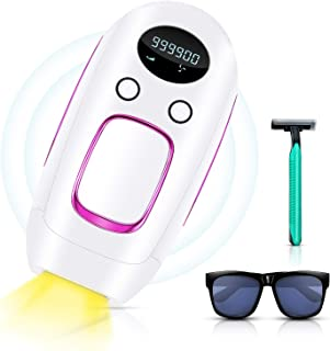 Laser Hair Removal, Permanent Hair Removal for Women & Men, Upgrade to 999,900 Flashes, Painless Facial body Profesional Hair Remover Device for Wholebody Home Use