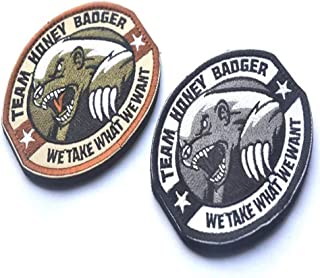 Team Honey Badger Patch Applique Patches Hat Decor Embroidered Badge Iron On Sew On Patch