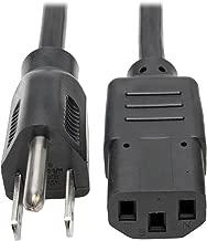 Tripp Lite Standard Computer Power Cord 10A,18AWG (NEMA 5-15P to IEC-320-C13) 3-ft.(P006-003)