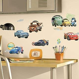 الغرف rmk1583scs pixar Cars 2ملصقات جدارية لاصقة من ديزني