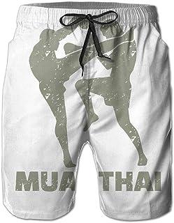 Pantal/ón Muay Thai Kick Boxing Buddha Retro Ocean