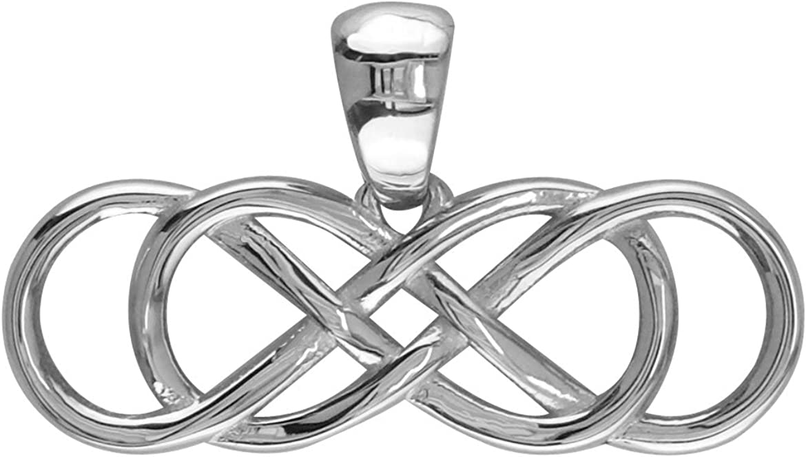 Large Double Infinity Symbol Charm Popular standard in Long Sterling Silver 30mm Portland Mall
