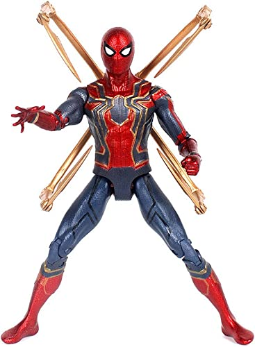MI ER- Hot Toys Marvel Avengers Unendlichkeit Krieg Eisenspinne Spiderman Action Figure PVC Spider Man Figur Sammeln Modell Spielzeug 17 cm