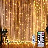 Cortina de Luces LED 3Mx3M 300LEDs, 8 Modos de lluminación, E T EASYTAO...