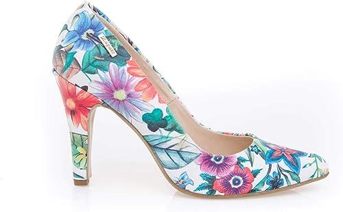 Polnisches Leder Damen Damen Damen Schuhe Pumps Modell 0.35, Blaume - Größe  38 EU  Viel Spaß beim Einkaufen