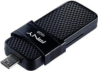PNY P-FD16GOTGSLMB-GE 3.0 16 GB Duo-Link OTG Micro USB Flash Drive