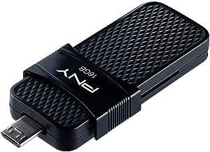 (16 GB) - PNY P-FD16GOTGSLMB-GE 3.0 16 GB Duo-Link OTG Micro USB Flash Drive