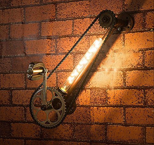 GUOQ Couleur rouille rétro industrielle en fer forgé lampe Vintage Creative mur bougeoir pour House Bar Restaurants café Club couloir escaliers Loft décoration appliques