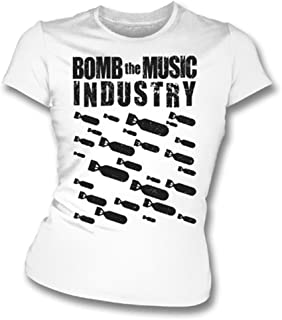 Bomb The Music Industry Girl's Slim-Fit T-shirt, Color White