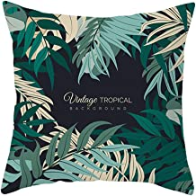 GFGKKGJFF0807 Housse de Coussin Motif Feuilles de Palmier Tropicales Vert 40 x 60 cm