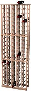 Traditional Redwood Wine Rack 5 Columns 105 Bottles