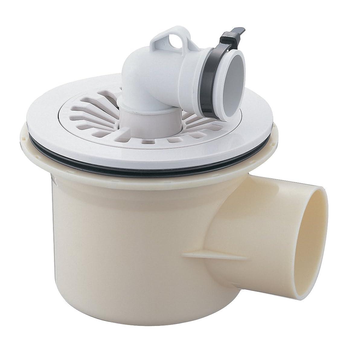 遺体安置所安定しました床を掃除するSANEI 【洗濯機ホース用の排水トラップ】洗濯機排水トラップ VP?VUパイプ兼用 横引き用 H5553-50