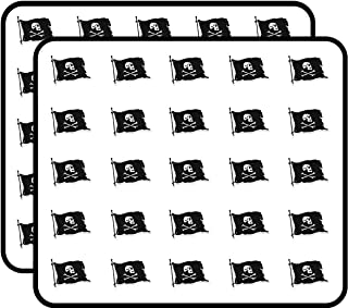 Black Pirate Flag Sticker for Scrapbooking, Calendars, Arts, Kids DIY Crafts, Album, Bullet Journals 50 Pack