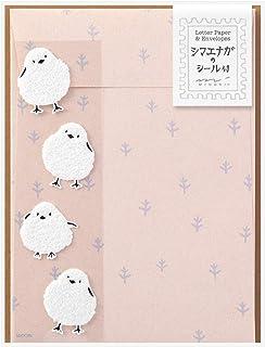 ミドリ レターセット シール付 便箋12枚 シマエナガ 86758006