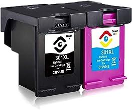 Facink Cartuchos de tinta 301 XL 301XL remanufacturados de