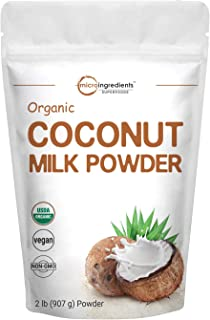 Micro Ingredients Organic Coconut Milk Powder, 2 Pound (32 Ounce), Plant-Based Creamer, Perfect for Coffee, Tea and Smooth...